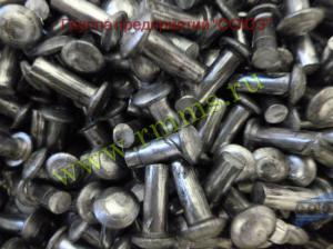 заклепки стальные полукруглая 4 мм
